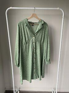 Green Polka Dot New Look Maternity Dress Size 16