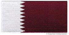 QATAR FLAG embroidered iron-on PATCH ARAB MUSLIM MIDDLE EAST EMBLEM SOUVENIR