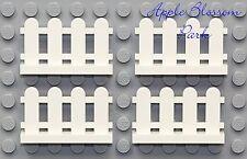 NEW Lego City White PICKET FENCE LOT - 4 House/Farm Animal Chicken Pig Goat Dog