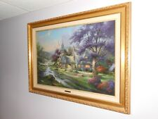 "Thomas Kinkade Lithograph titled ""Clock Tower Cottage""Low #"