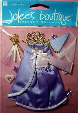 NEW 10 pc FAIRY PRINCESS Gown Wand Tiara Hat Veil Stars  JOLEE'S 3D Stickers