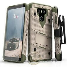 LG G6 Bolt Case W/Stand - Desert Tan/Camo Case Cover Shell Shield