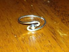 S.Silver 925 Toe Ring siz 3.75 Wave/Dome Pinkie Child Knuckle stacking Thumb hot