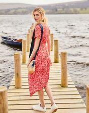 Joules Womens Paloma Smocked Waist Dress - RED SPOT Size 12