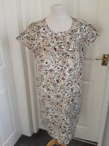 PRETTY * EX BODEN* FAWN IVORY FLORAL DRESS SIZE  8 R BRAND NEW