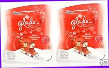 4 REFILLS Glade Plugins APPLE CINNAMON CHEER Scented Oil Refills Plug In