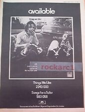 JACK BRUCE Things We Like 1971 UK Poster size Press ADVERT 16x12 inches