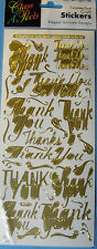 NEW THANK YOU MESSAGES - Gold -  CLASS A' Peels Complete Card Craft Stickers
