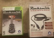 Xbox 360 Rocksmith 2011 Box Game With Real Tone Cable Complete Free Shipping