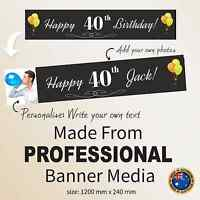 40th Birthday Decorations & Supplies Personalised Canvas Party Banner