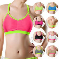 Fashion Ladies Sports Bra Yoga Athletic Crop Tops Wrap Chest Strap Vest Tank Bra