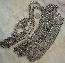 12 ft Gunmetal black  plated cable chain 8x7mm diamond twist 4 links in pch060