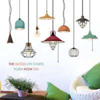 KQ_ BU_ 2Pcs/Set Colorful Ceiling Lamp Wall Sticker Mural Decor for Kids Room