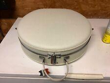 Nice American tourister round hat box tiara luggage white