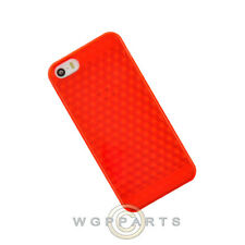 Apple iPhone 5/5S/SE Candy Skin Textured - Red Case Cover Shell Guard