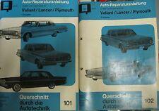* Plymouth Valiant Fury Barracuda Reparaturanleitung 60er Jahre deutsch Bd1+2*