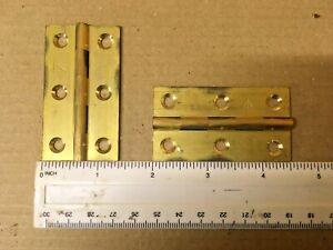 4x 50mm Laiton Demi Caché Double à Manivelle Chasse Armoire Charnière Porte