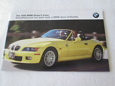1998 BMW Brochure Z3 Roadster M3 Coupe Sedan 328i 540i 750iL 323is 528i  Catalog