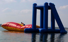 15' Commercial Inflatable Floating Water Slide Launch Pad Trampoline Bouncer