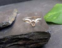 Zierlicher 925 Sterling Silber Ring Modernes Design Kugel Schlicht Einfach Chic