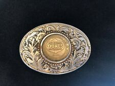 Vtg Beautiful Dunes Hotel & Country Club Casino Coin Chip Belt Buckle Las Vegas