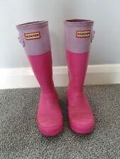 Hunter Wellies Two Tone Pink/ Lilac Uk 3 Girls Rain Boots