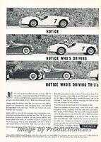 1961 Triumph TR3 TR-3 - Original Advertisement Print Art Car Ad J682