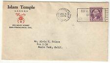 San Francisco  Scarce 1935 Islam Temple Shriners Cover
