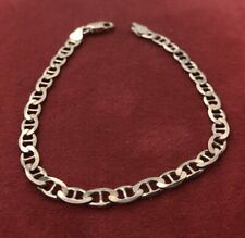 "Vintage Sterling Silver Bracelet 925 7.25"" Italy Chain"
