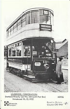 Tram Postcard - Liverpool Corporation - Standard Priestly Car No.130 1922 -V2236