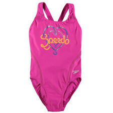 BNWT Speedo Junior Swimwear GIRLS vibrant pink heart logo size 10