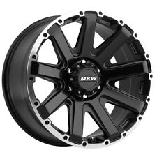 New Listing4 New 20 Inch Mkw Offroad M94 20x9 6x135 10mm Blackmachined Wheels Rims