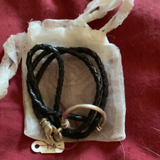 LaLOOP BLACK EYEGLASS CHAIN LEATHER CORD & STERLING SILVER CLASP ~ NEW