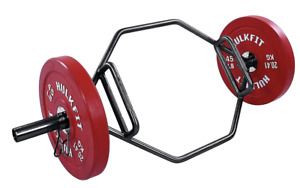 New HulkFit Olympic 2-Inch Hex Weight Lifting Trap Bar, 1000-Pound Capacity