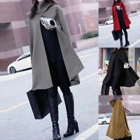 ZANZEA Womens Cape Cloak Cardigans Hooded Trench Coat Outwear Winter Top Blouse