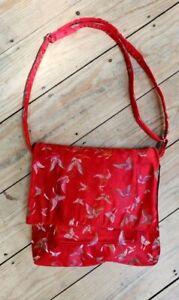 LADIES RED Chinese Silk BAG/Shoulder Bag/Tote Bag/Occasion Bag