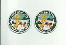 SCOUT BSA 2006 TOMAHAWK RESERVATION SNOW BASE PARTICIPANT & CAMPMASTER PATCH NSC