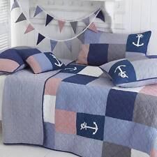 Luxury Coastal Double Patchwork Bedspread Comforter 100% Cotton
