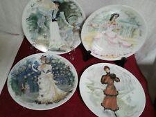 """D' Arceau Limoges Vtg Rare Collector Plates Set Of 4 """"Le Femmes Du Siecle"""" 1976"""