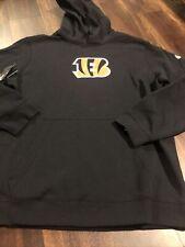 New Nike Cincinnati Bengals Mens NFL Football Hooded Sweatshirt Size XL Black