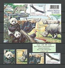 FRANCE 2009...MNH ** n° YT 4372-75 + S.Sheet n° 128...Fauna...Animals...12€