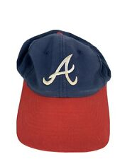 New listing Atlanta Braves Mlb Major League Baseball Hat Cap Snapback Adjustable Red Blue