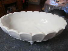 Vntg LG. Indiana Milk Glass 4-Ftd Fruit Harvest Compote Centerpiece Console Bowl