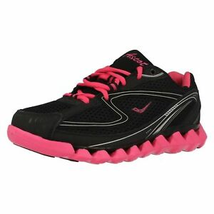Ascot AS009-L Spring-Wave Black/fuchsia Ladies Trainers  (4B)