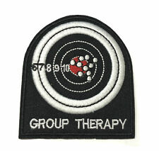 GROUP THERAPY Embroidered Patch Iron-On / Sew-On Badge Emblem Applique
