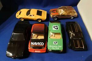 6 x SCALEXTRIC SALOON SPORTS CARS MIURA ESCORT FIREBIRD METRO MAESTRO NEED WORK