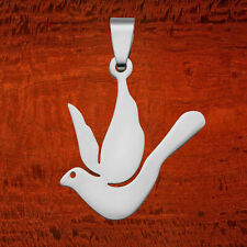Durable Stainless Steel Lightweight Dove Pigeon Bird Love Peace Symbol Pendant