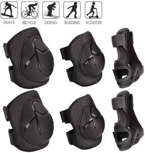 6 X Kinder Protektoren Ellenbogen Handgelenke Knieschützer Schoner Inlineskater