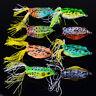 8pcs Set Soft Topwater Frog Fishing Lures Bass CrankBait Bait Tackle 5.5cm/12.5g