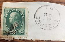 US STAMP 1870 SCOTT 147 CANCEL LUZERNE (NY)  POSTMARK